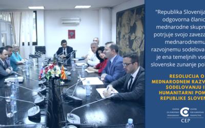 New strategic focus of Slovenia's development assistance