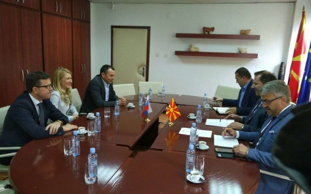 With Minister of Interior of Republic of Macedonia Spasovski about financial investigations