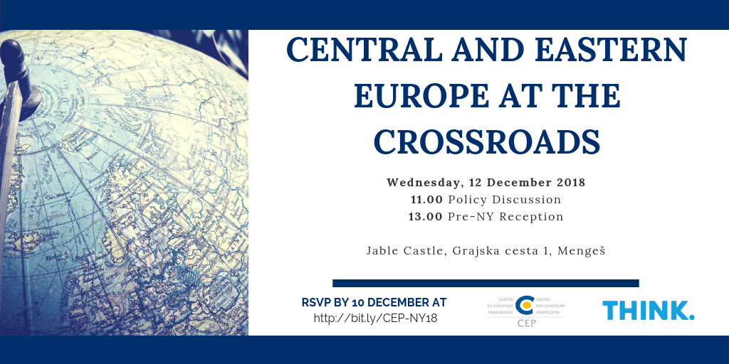"Policy Discussion ""CEE at the Crossroads"" & Reception"