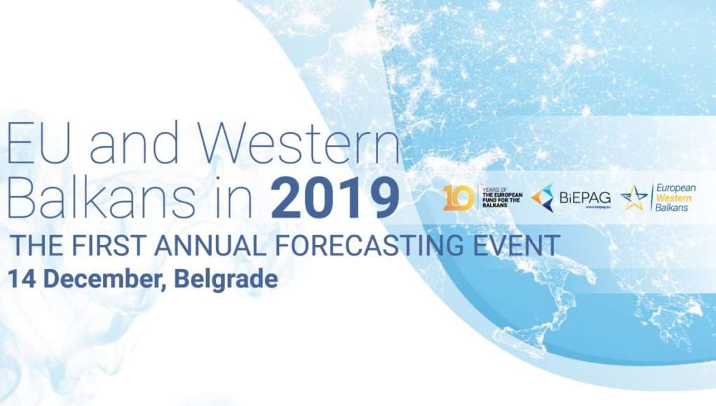 "First annual forecasting event ""EU and Western Balkans in 2019"""