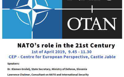 ANNOUNCEMENT: NATO´s role in the 21st century round-table discussion on 1st of April at 9.45