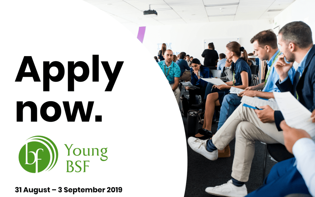 YOUNG BSF 2019: APPLICATIONS ARE OPEN