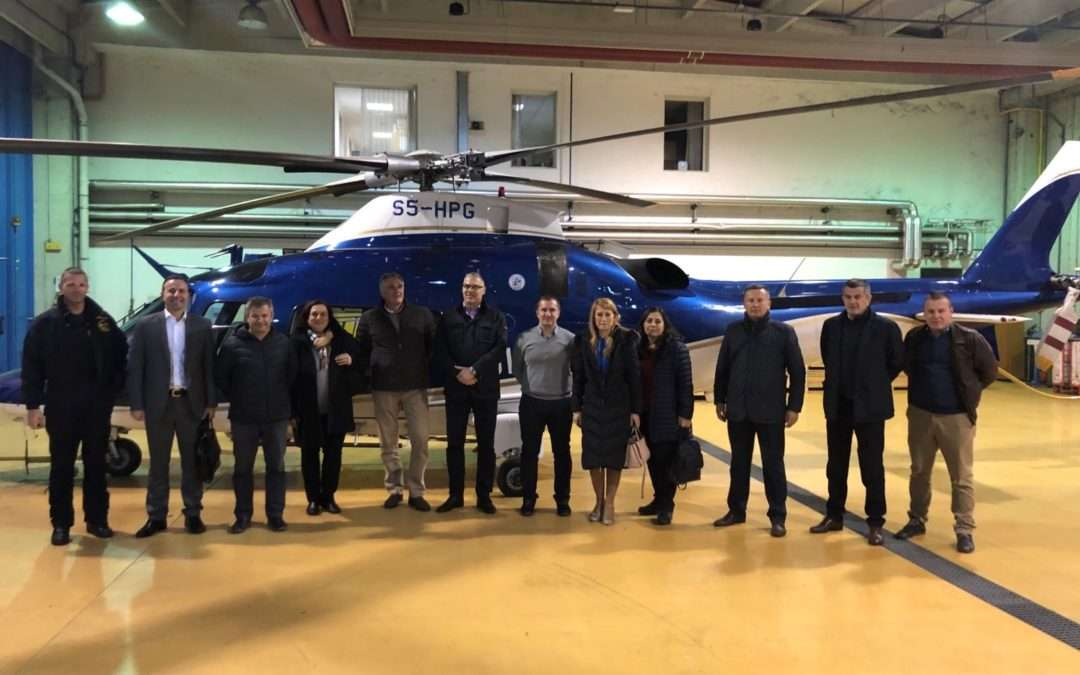 PRESS RELEASE: Slovenia supports Montenegro in establishing a system of public services provided by helicopter operations of Ministry of Interior
