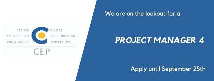 CEP išče nove sodelavce: Razpis za delovno mesto Projektni vodja IV.