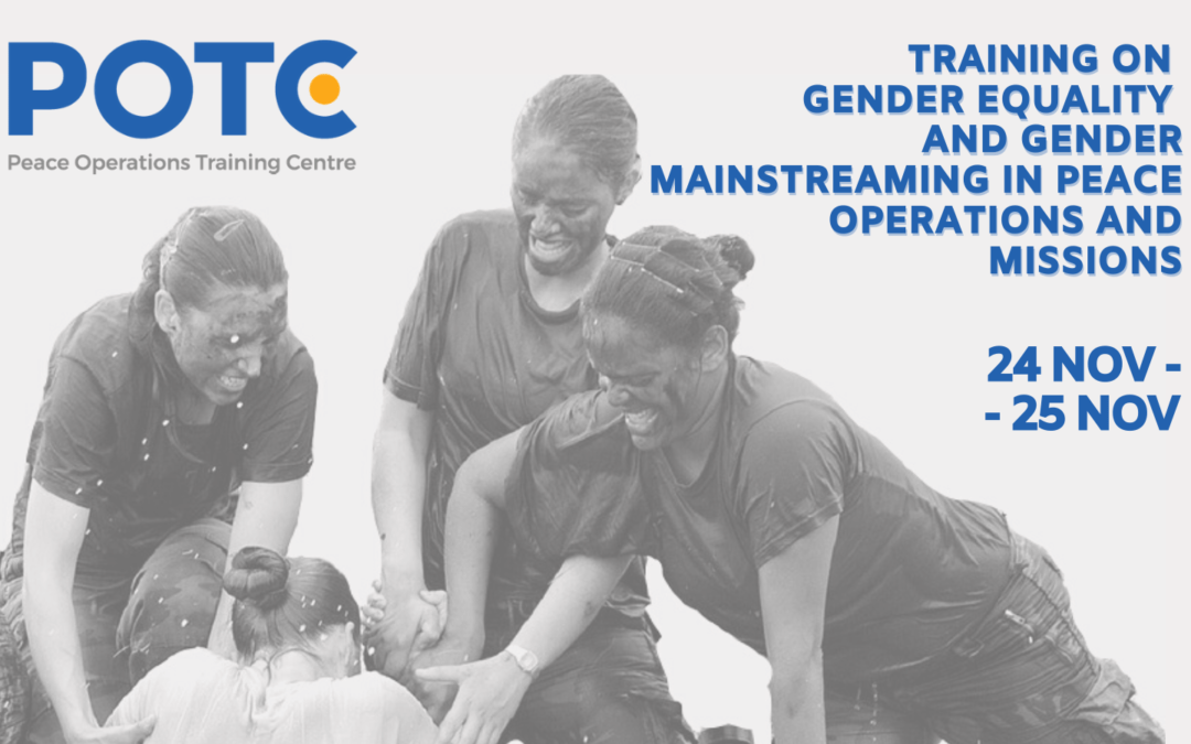 Join us for the first training of Peace Operations Training Centre (POTC)