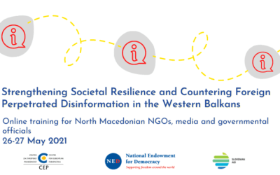 An online closed-door session for North Macedonian NGOs, media and