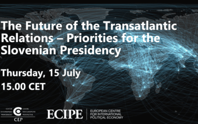 [Invitation] July 15 – The Future of the Transatlantic Relations – Priorities for the Slovenian Presidency