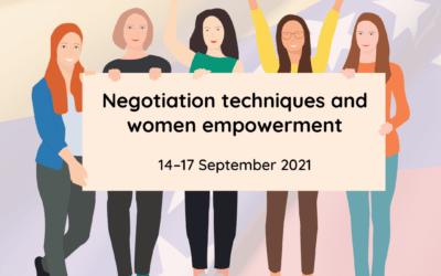 Negotiation techniques and women empowerment – online workshops